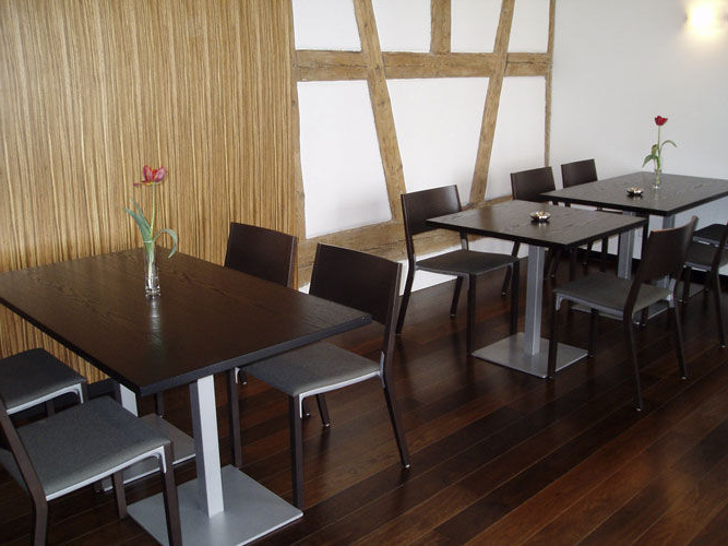 Mesas De Restaurante 3ldq Mesa Moderna De Madera Maciza Redonda Para Restaurante Para