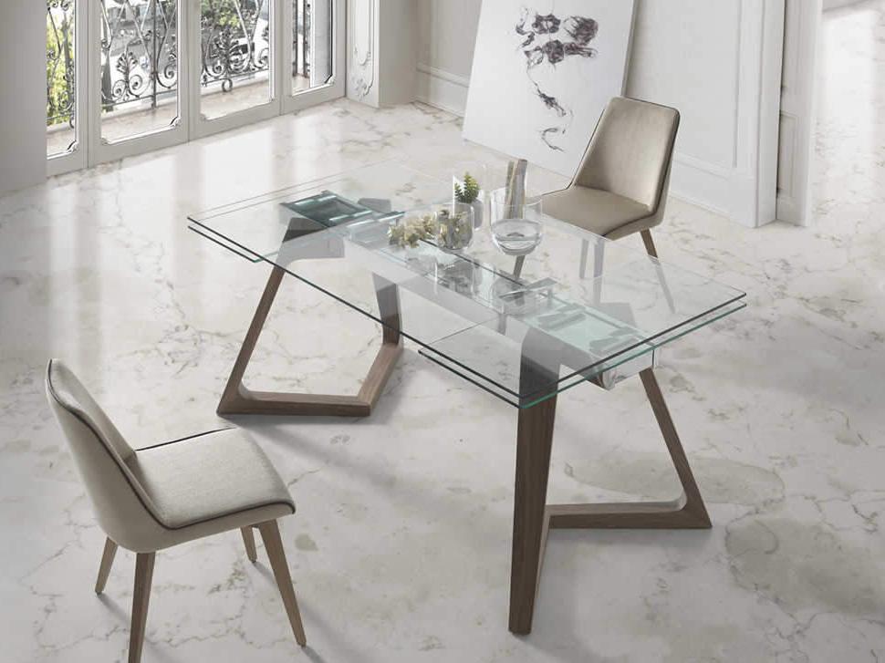 Mesas De Salon De Cristal 3id6 Mesa De Edor Cristal Extensible Nil Muebles Xikara