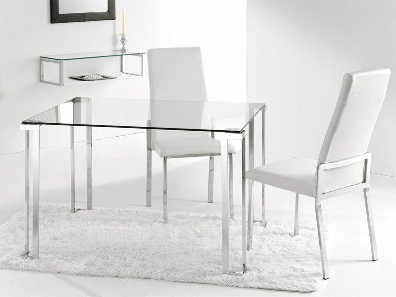 Mesas De Salon De Cristal 3id6 Mesa Y Sillas De Edor Moderno Con Cristal Transparente