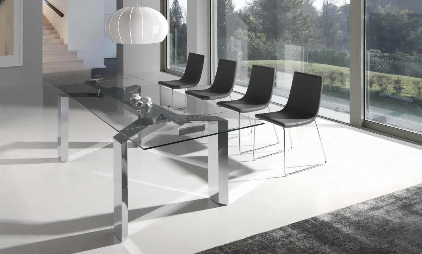 Mesas De Salon De Cristal Gdd0 Mesa De Edor Con Cristal Transparente Metropolis Muebles Xikara