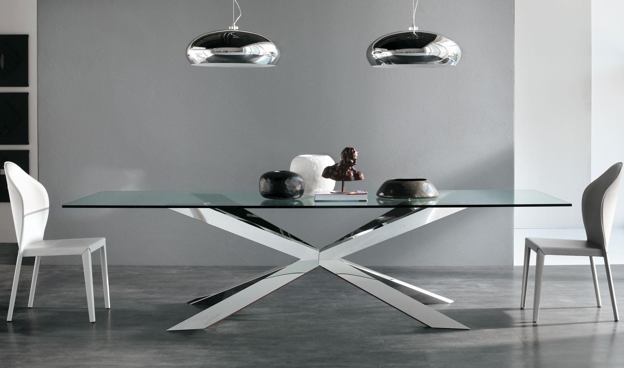 Mesas De Salon Modernas Ftd8 Mesa De Edor Cristal Spyder Cattelan De Lujo En Portobellodeluxe