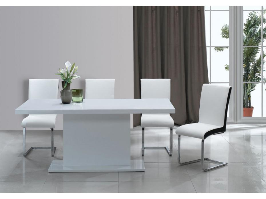 Mesas De Salon Modernas Q5df Mesa De Edor De Mdf Lacada En Color Blanco soliste