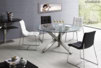 Mesas De Salon Redondas Wddj Mesa De Edor Redonda En Cristal Templado Y Acero Inox Mod Alfaro