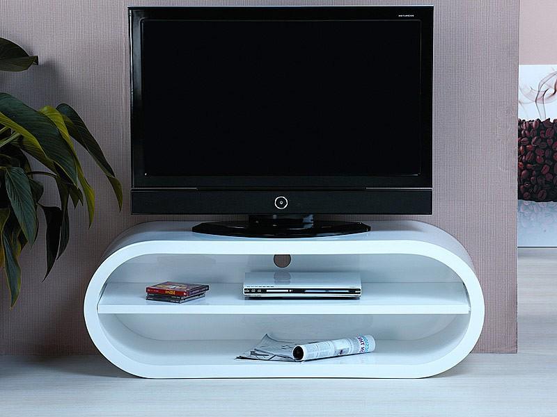 Mesas De Tv Ffdn Mueble Televisor Moderno En Blanco Lacado Mesas Para Tv