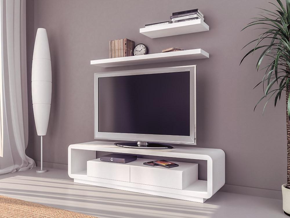Mesas De Tv Q5df Conjunto formado Por Mesa Tv Y Dos Estantes