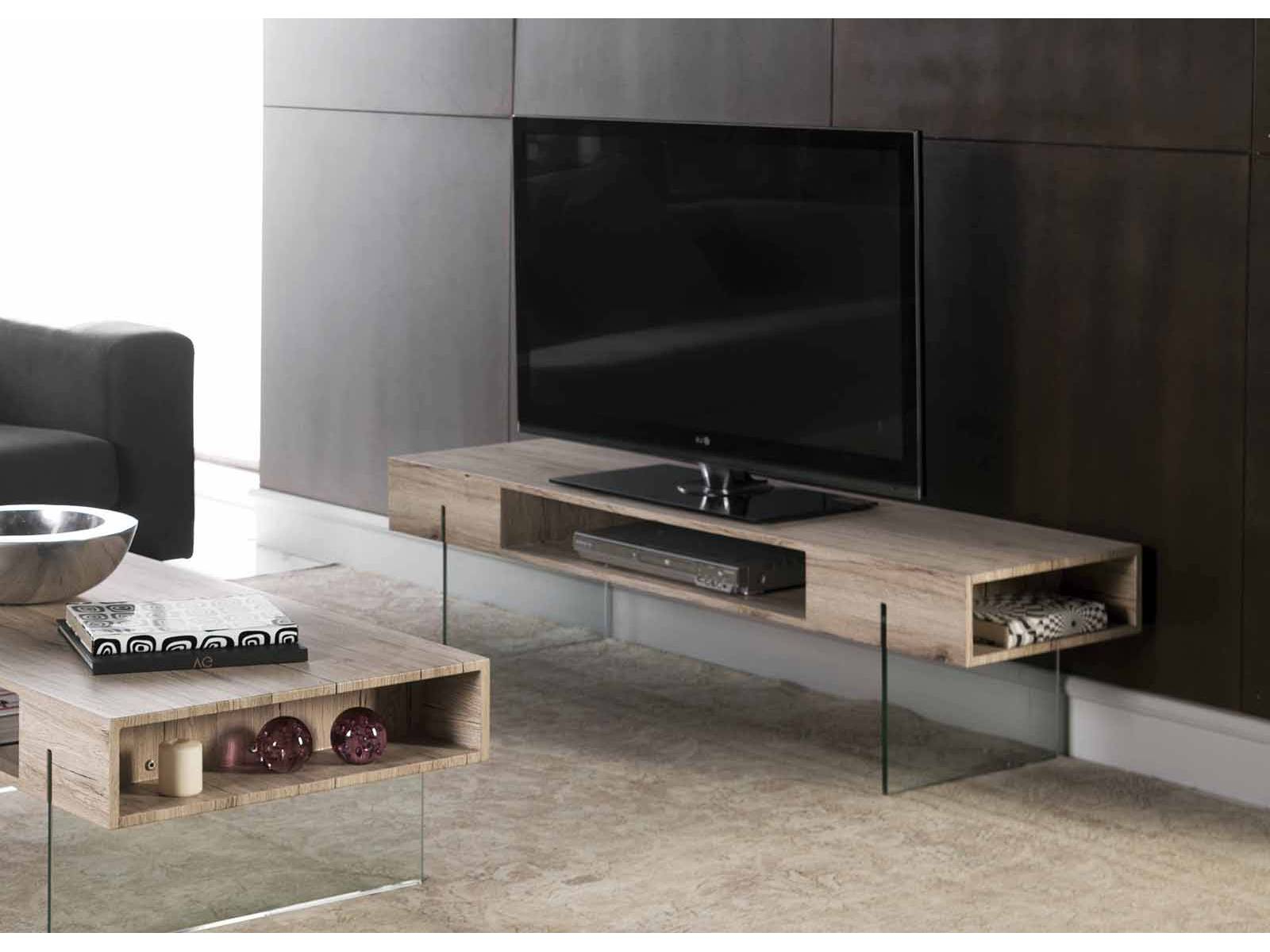 Mesas De Tv S5d8 Mesa Tv Modelo Celine Color Roble