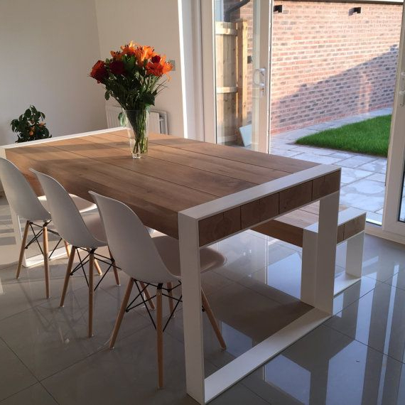 Mesas Grandes X8d1 Handmade Dining Set Steel Timber Table with Benches Grandes