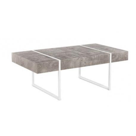 Mesas Metalicas 3id6 Mesa De Centro City Acabado Gris Cemento Patas Metà Licas Blancas Muebles Baratos Online