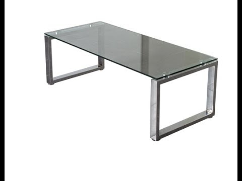 Mesas Metalicas Nkde Mesa Centro Cristal Y Patas Cromadas Metalicas De Salon Disponible Con 2 Poufs Ref
