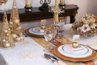 Mesas Navidad Kvdd Decorar La Mesa En Navidad Dorado