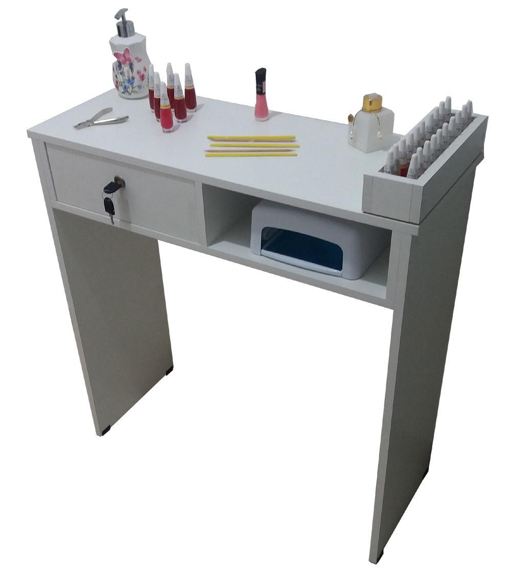 Mesas Para Manicure Gdd0 Mesa Para Manicure 1 Gaveta Chave E 1 Partimento Para