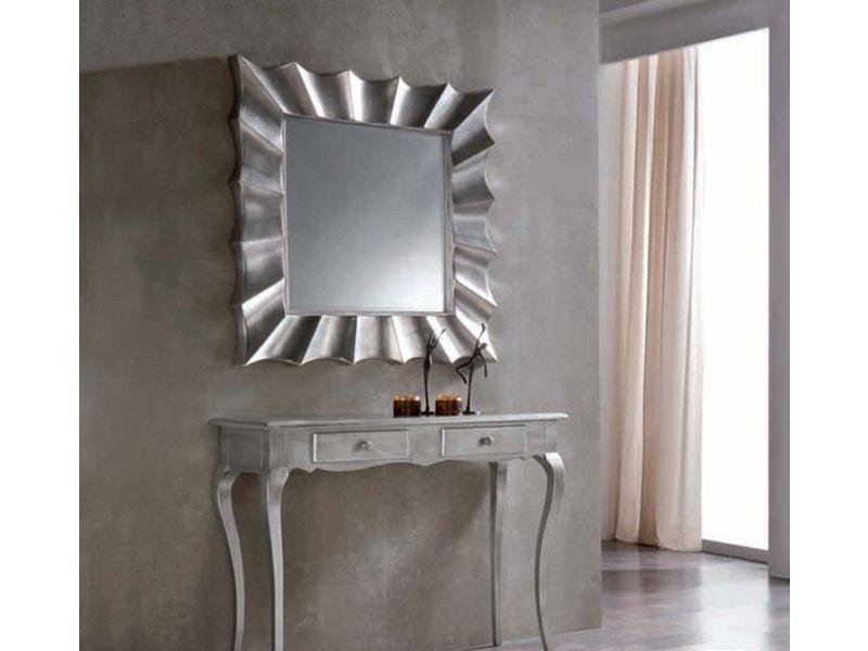 Mesas Plateadas S5d8 Espejo Vintage Plateado Espejo Cuadrado Con Marco Color Plata