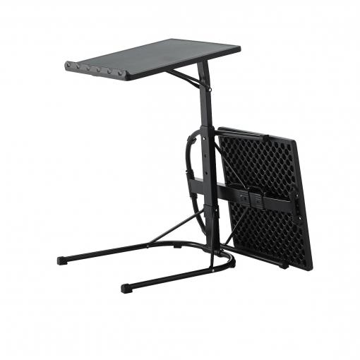Mesas Plegables Carrefour Q5df Mesa Plegable Ajustable Multifuncional De Acero Y Resina Negro