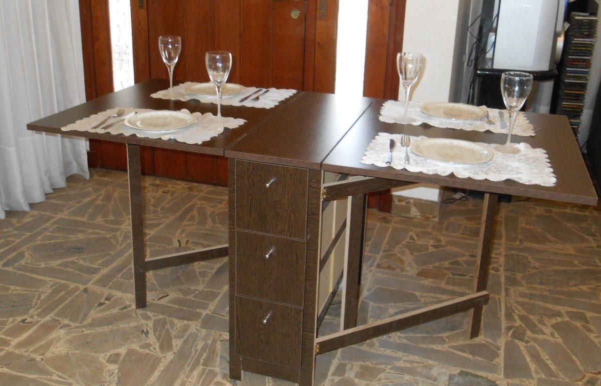 Mesas Plegables De Comedor T8dj Mesa Plegable Cocina Edor Auxiliar 3 780 00 En Mercado Libre