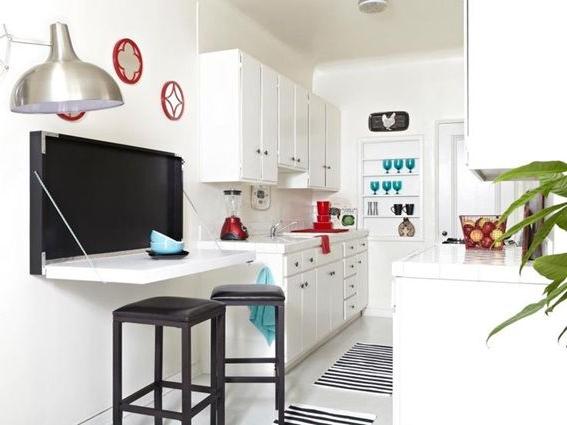 Mesas Plegables Para Cocina S1du 12 Diseà Os De Cocinas Con Mesas Plegables Para Ahorrar Espacio