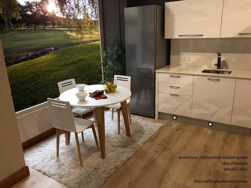 Beautiful Mesas Redondas Y Extensibles Para Cocinas Images ...