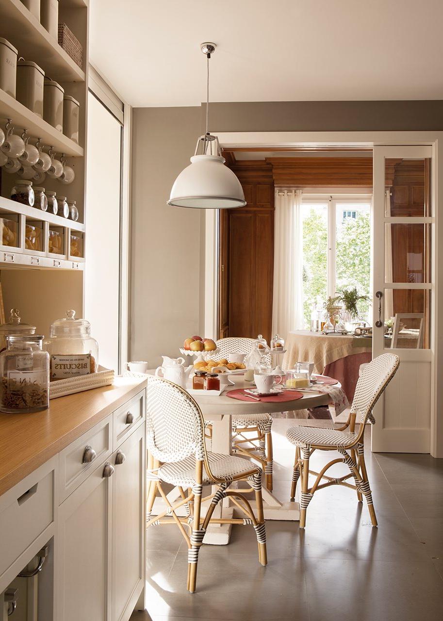 Mesas Redondas Para Cocina Whdr Un Office Ideal En La Cocina