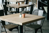Mesas Restaurante Bqdd Mesa De Restaurante Loft Con Estilo Industrial