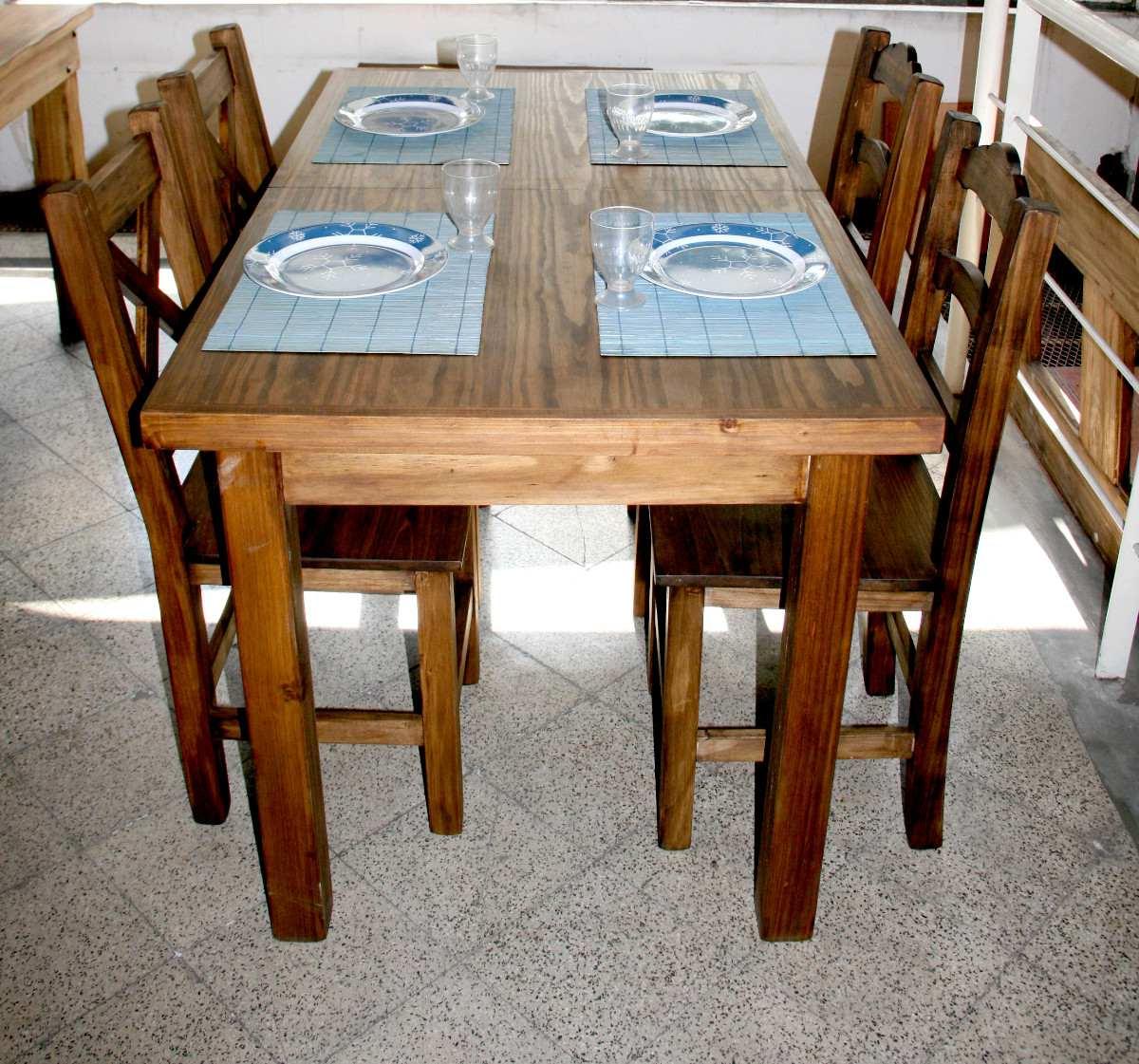Mesas Rusticas De Comedor O2d5 J Edor Mesa Extensible 1 40 1 90 C 4 Sillas Rústica Campo