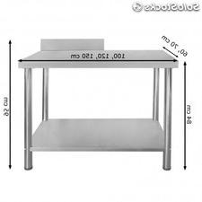 Mesas Trabajo O2d5 Mesa De Trabajo Para Cocina Taller O Clà Nica 120 X 60 X 85 De