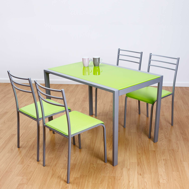 Mesas Y Sillas De Cocina Baratas 9fdy Conjunto De Mesa Y 4 Sillas Alfa En Colores Muebles Baratos Online