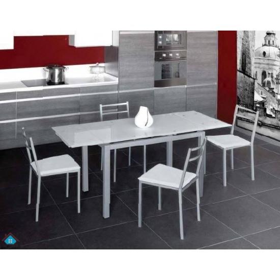 Mesas Y Sillas De Cocina Baratas Dddy Conjunto Mesa Extensible Y 4 Sillas Cocina Bisbe Sillas Blanco
