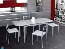 Mesas Y Sillas De Cocina J7do Conjunto Mesa Extensible Y 4 Sillas Cocina Bisbe Sillas Blanco