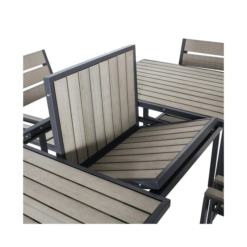 Mesas Y Sillas De Jardin Alcampo E9dx Conjunto Mesa Y Sillas Jardin De Rectangular 6 Aluminio Ratan