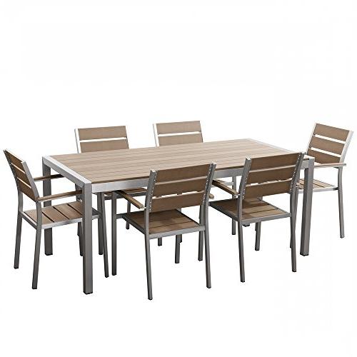 Mesas Y Sillas De Jardin Baratas Q0d4 Conjunto De Jardà N En Aluminio Mesa 180 Cm 6 Sillas Vernio