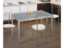 Mesas Y Sillas Para Cocina Ffdn Mesa Fija De Cocina Metà Lica De Aluminio Y Cristal Traslúcido