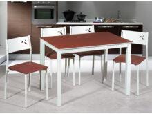 Mesas Y Sillas Para Cocina Ffdn Oferta Conjunto Mesa Y Sillas De Cocina Blancas White