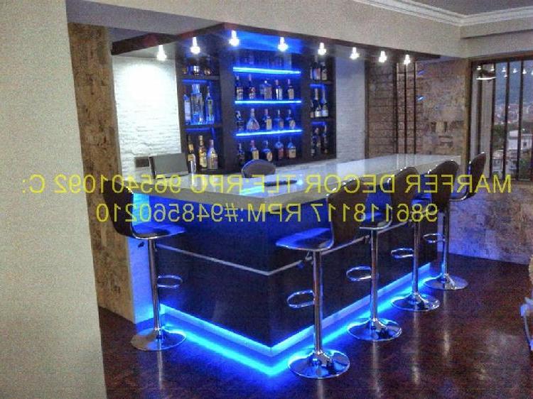 Mobiliario Para Bar 87dx Muebles Para Bar Discotecas Casas Departamentos Marfer En Lima