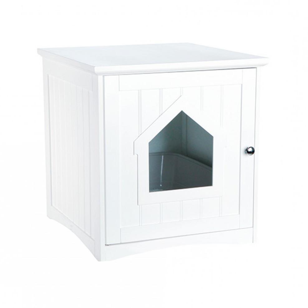 Mueble arenero Gato S5d8 Mueble arenero Cerrado Para Gatos Blanco Feelcats