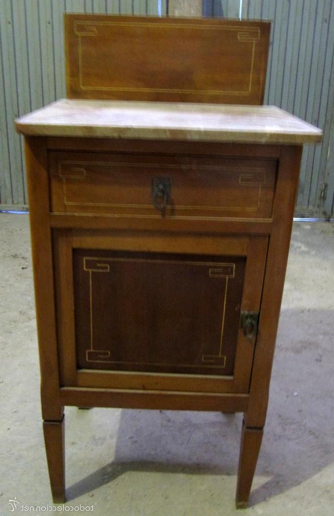 Mueble Auxiliar Recibidor H9d9 Antiguo Mueble Auxiliar De Madera Y Marmol Mes Prar Muebles
