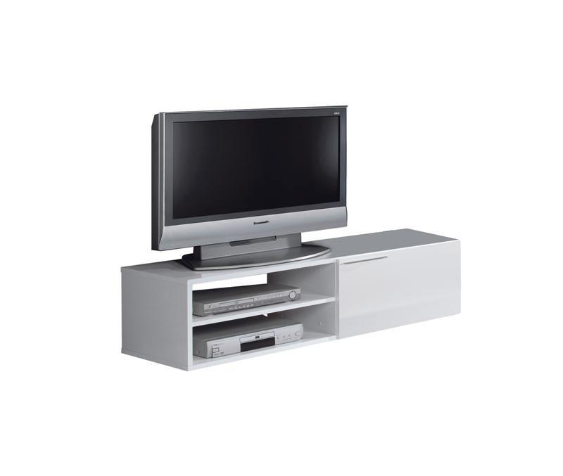 Mueble Auxiliar Tv Dddy Mueble Auxiliar De Tv Color Blanco Con Cajones Y Leja En Oferta