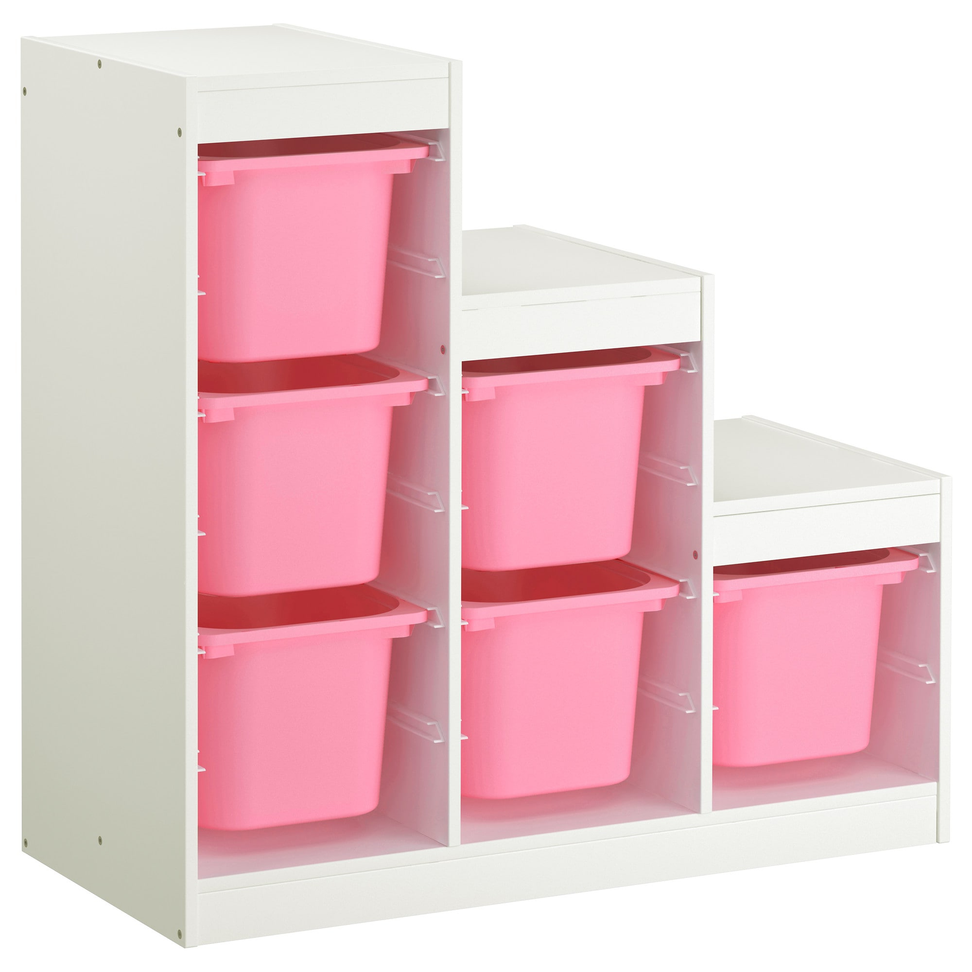 Mueble Bañera Cambiador Ikea D0dg Trofast Binacià N De Armario Y Estanterà A Blanco Rosa 99 X 44 X 94