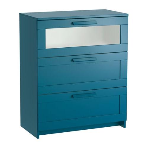 Mueble Bañera Cambiador Ikea S1du Brimnes CÃ Moda De 3 Cajones Azul Verdoso Oscuro Vidrio Esmerilado 78