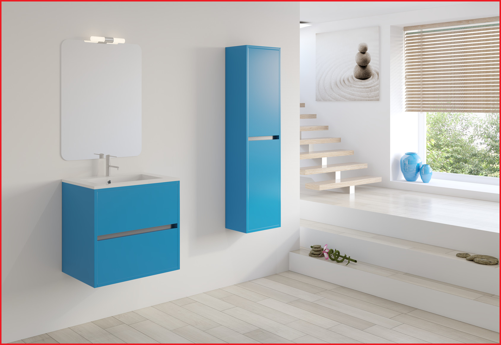 Mueble Baño Azul Ffdn Muebles De Baà O De 60 Cm Muebles De Bano Azul DiseOs