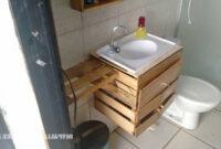 Mueble Baño Con Lavabo Rldj Mueblesdepalets Cuarto De Baà O Equipado Con Cajas De Fruta