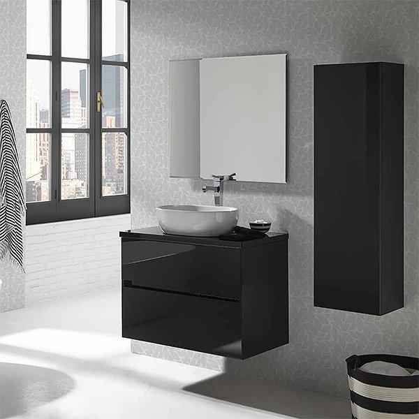 Mueble Baño Con Lavabo Y7du Conjunto Mueble De Baà O De Sanchis Lavabo sobre Encimera Espejo Glass Line 1 Varias Medidas Frentes De Cristal