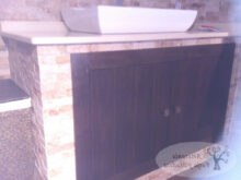 Mueble Baño Rustico Etdg Artesanà A forja Y Madera
