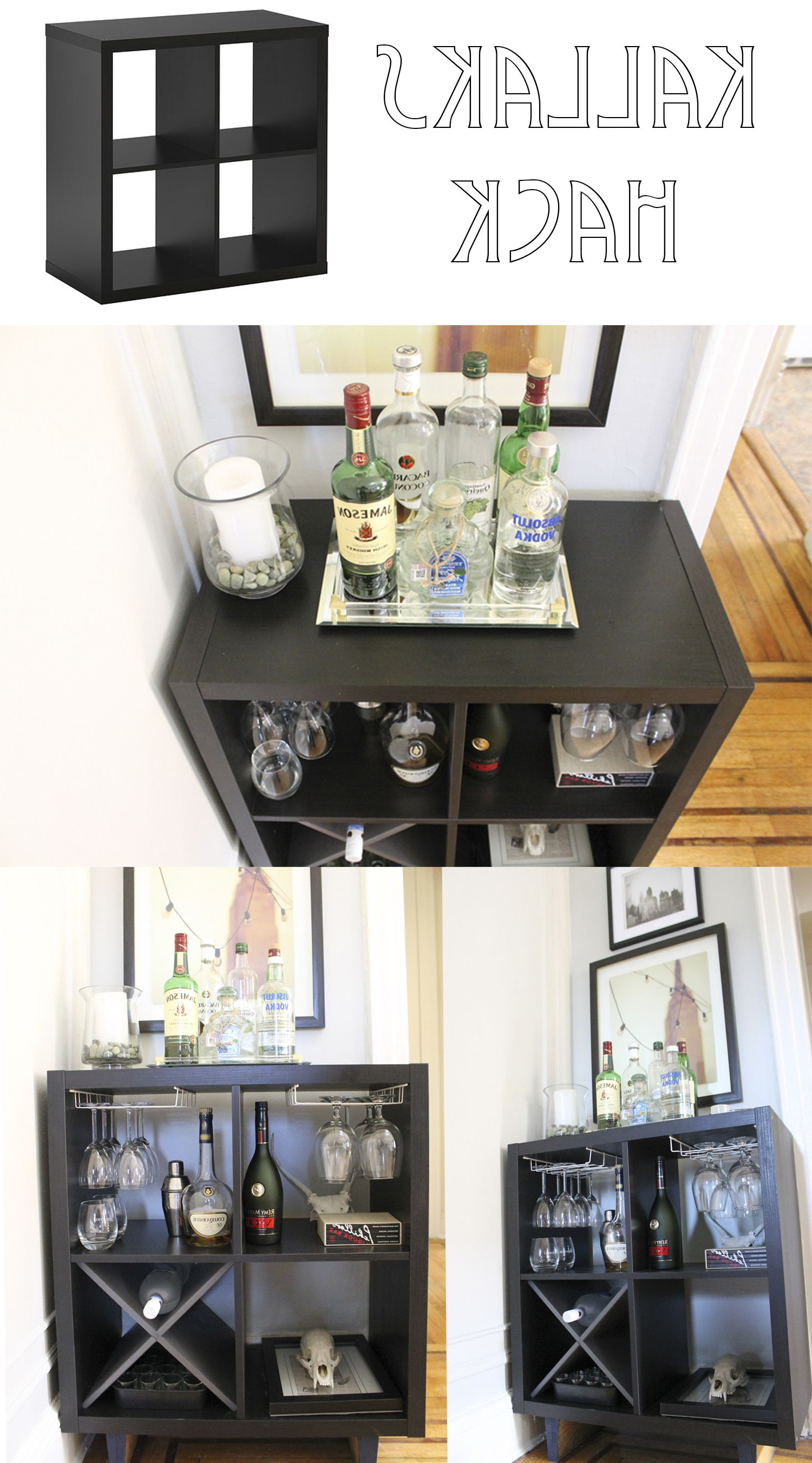 Mueble Bar Ikea 3ldq Ikea Kallax Hack to A Bar Made by Keeparker House Future Projects
