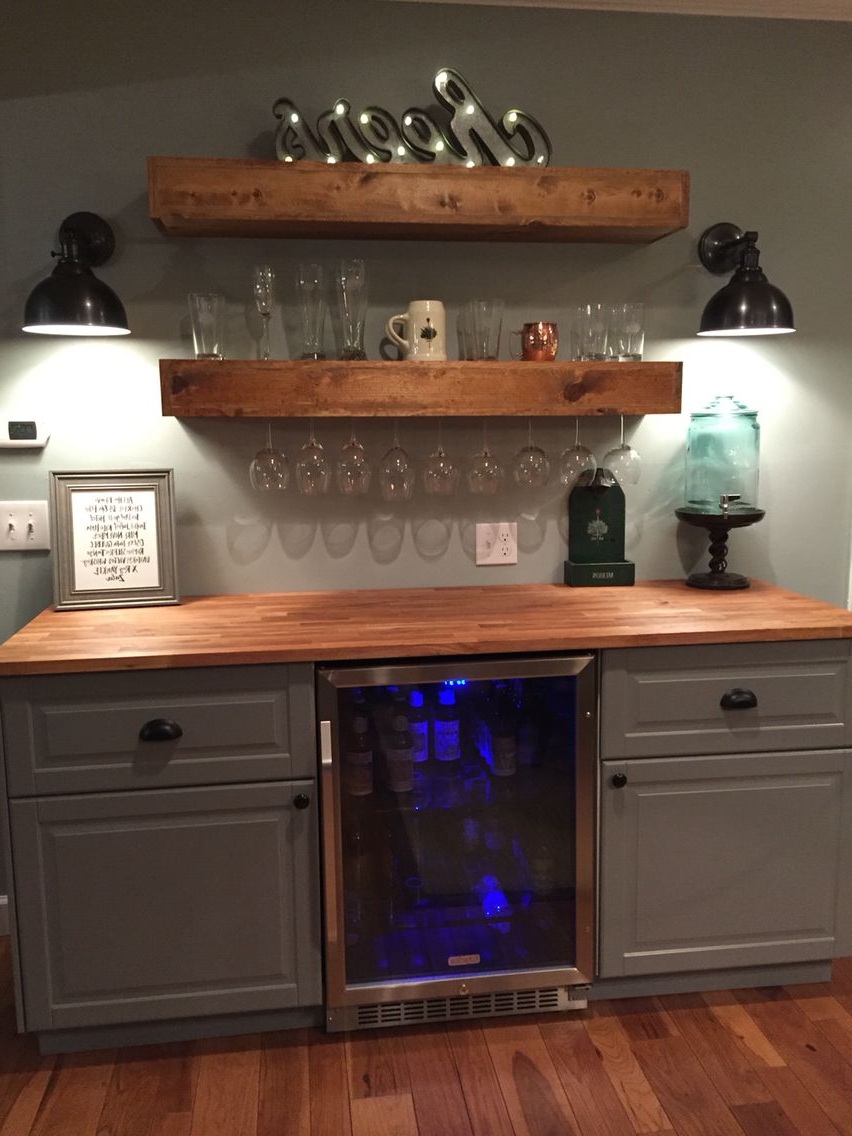Mueble Bar Ikea 4pde Rustic Bar with Ikea Cabinets and Beverage Center Basement