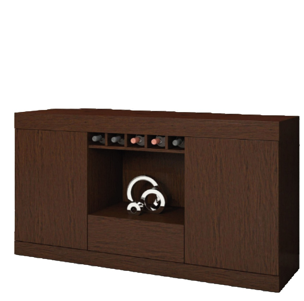 Mueble Buffet Q0d4 Aparador Mueble Buffet Bargueà O Living Fenix Chocolate 3 384 00