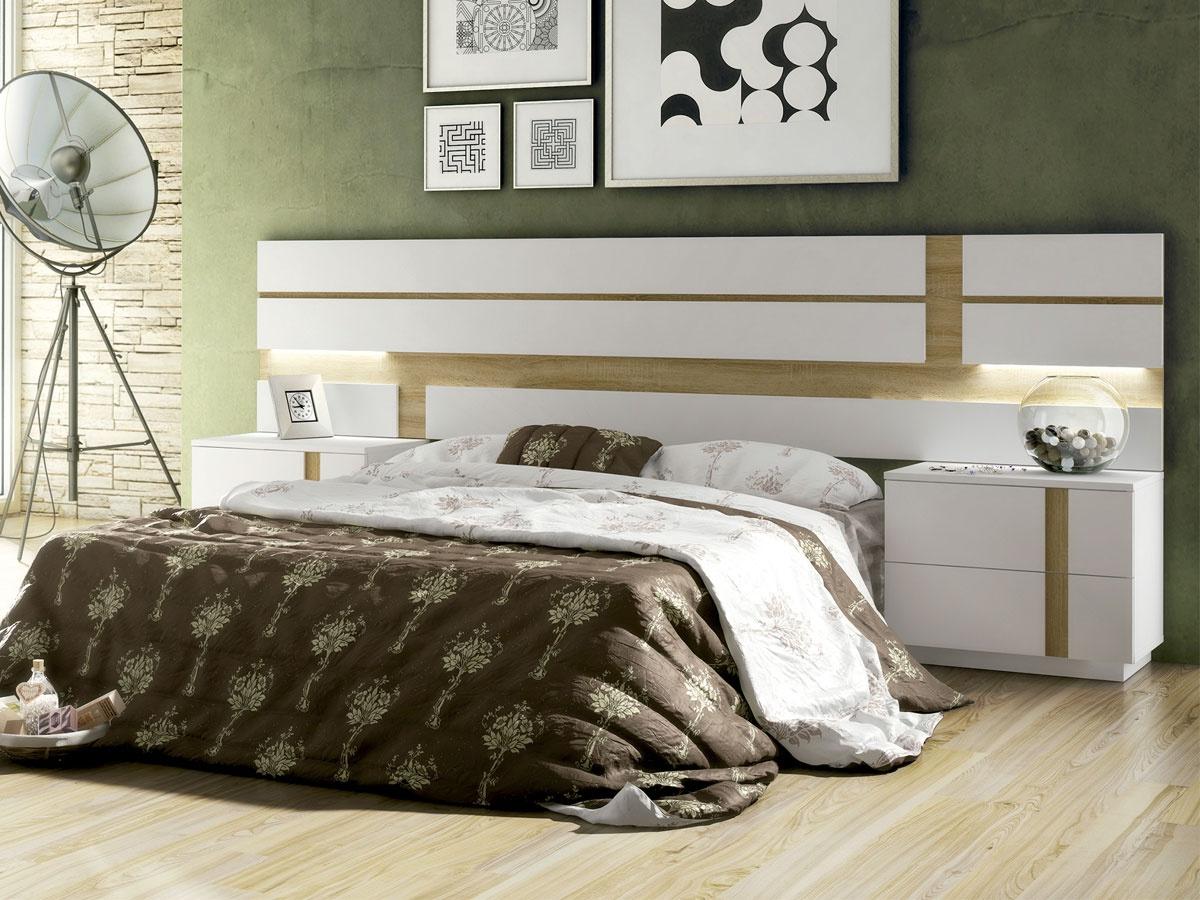 Mueble Cabecero X8d1 Mueble De Dormitorio Con Cabecero Rayas Para Pareja Con 2 Mesitas