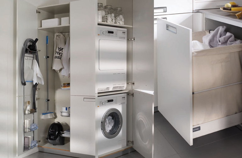 Mueble Columna Lavadora Secadora J7do soluciones Lavanderà A Cocinas Santos Dc
