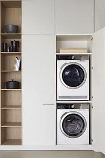 Mueble Columna Lavadora Secadora Mndw Mueble Para Lavadora Y Secadora Mesas Cocina Laundry Laundry