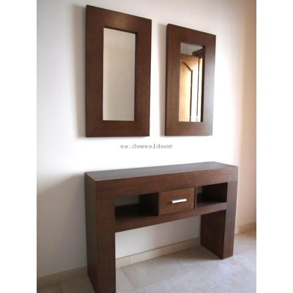 Mueble Consola Q0d4 Mueble Consola orion Fabricado A Medida Con Espejo A Juego
