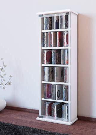 Mueble Dvd Gdd0 Vcm Galerie Mueble Cd Dvd Para 300 Piezas Madera Blanco 91