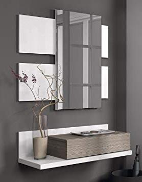 Mueble Entrada Mndw Habitdesign Mueble Recibidor Con Cajà N Y Espejo Incluido Color